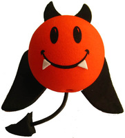 RED black devil with teeth antenna balls toppers car aerial ball aerial car decoration accessories