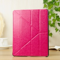 Folded transformers leather case for Apple iPad 2 3 4 ultra thin style fresh color crazy horse flip cover with stand