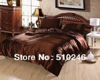 best selling high quality 4pcs imitated silk satin bedding set bed sheet set quilt cover duvet cover set