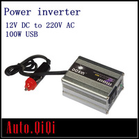 100W 100 WATT Car 12V DC In to 220V AC Out Power Inverter  Adapter  With USB