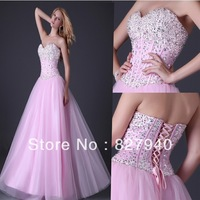 Wholesale  New Arrive/Hot Sale Nice With Crystal  A-Line Quinceanera /Bridesmaid/Party Dress ,custom!!