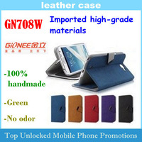 Leather Case for Qionee GN708W Imported high-grade materials 100% handmade Free shipping