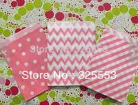 200pcs Kraft 5x7 Bubblegum Pink wedding paper bags,favor bags