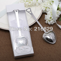 "China post air mail free shipping ""Tea Time"" Heart Tea Infuser in Elegant White Gift Box   wedding gift"