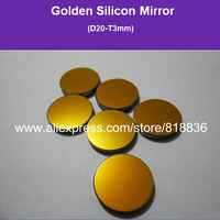Co2 Laser Mirror Golden Silicon Mirror Diameter 20mm Thicknes 3mm