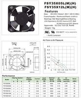 3.5CM 3510 FSY35S12H 12V 0.1A cooling Fan 1404KL-04W-B30