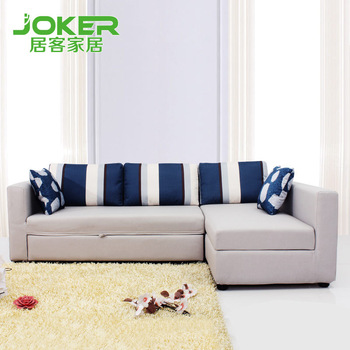 Living off the Mediterranean double sofa bed combination storage small apartment sofa 1.5 m B011 Specials