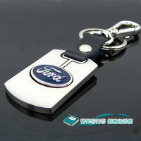 Square belt pants button ford car keychain women's male FORD emblem keychain