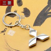 Buckle MITSUBISHI emblem keychain MITSUBISHI auto supplies male key ring key chain key ring