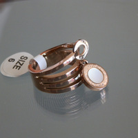 Free shipping Rose gold Plated  titanium steel ring  R002R