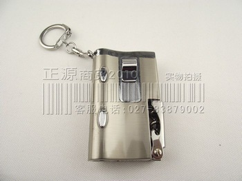 Multifunctional lighter flashlight money detector beer red wine key chain personalized lighter