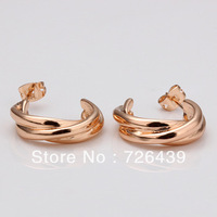 Free shipping 18k gold plated earring , 18k High quality earrings,wholesale fashion jewelry earringsLKN18KRGPE003