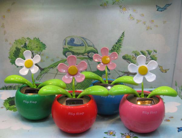 Wholesae 20pcs/lot Swing Solar Flower Magic Cute Flip Flap Swing Solar Flower Sunflower Apple Flower Free Shipping(China (Mainland))
