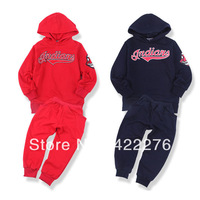 Free shipping Children Clothing set baby wear Boys/Girls Letter sport Hoodies Shirt +Pant Suit spring/autumn Baby Clothes