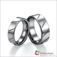 Fine Jewelry Accessories Antique Design Mens Womens Grooves Tungsten Midi Finger Rings Couple Rings Promise Rings Lovers' Rings