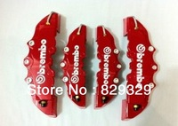 4pcs a kit ABS brake caliper covers racing disc 3D Brembo type brake cover Front + Rear red kit