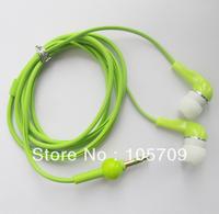 Green 3.5mm Earphone In-ear Headphone Earpiece Gourd Cable Desigh for Mp3 Mp4 Mp5 Green D0203