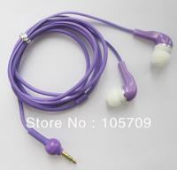 3.5mm Earphone In-ear Headphone Earpiece Gourd Cable Desigh for Mp3 Mp4 Mp5 Purple D0203