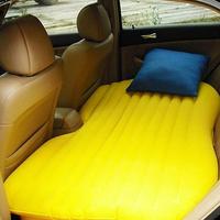 Car travel inflatable mattress car inflatable bed yellow car air mattress