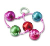 2cm*6balls colorful anal balls, g spot anal beads plug , butt plug sex toy for women massager S03