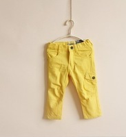 Wholesale boys and girls pants, side pockets, casual straight pants, skinny pants 5 sizes, free shipping
