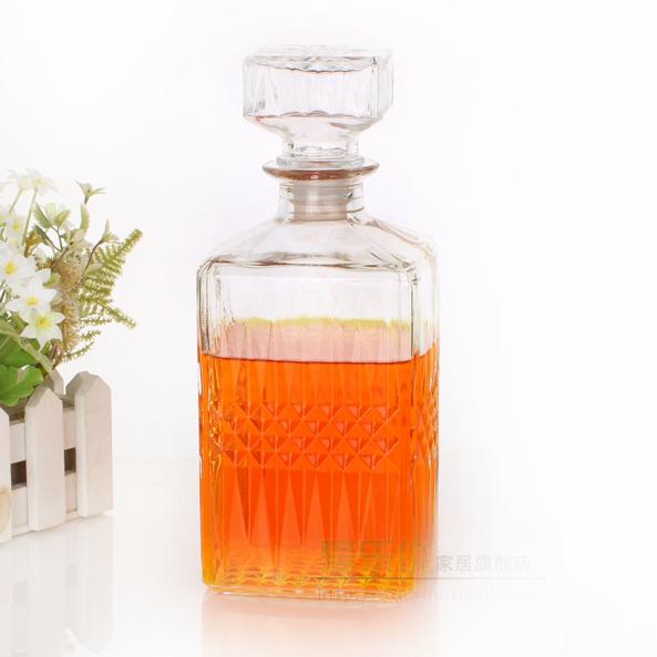 Glass red wine bottle baijiu paojiu bottle seal bottle sobering device wine cooler wine glass bottle 1l 2(China (Mainland))