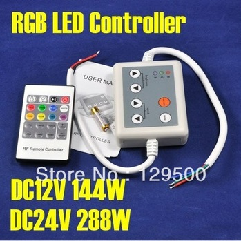Promotion DC12V/144W, DC24V/288W, 20 Key RF Touch Remote + 6 Key Common Controller, RGB Lighting Control