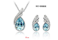 Drop Earring with Pendants 4colors FashionJewelry freeshipping Wholesale Professional Gorgeous Crystal Jewelry