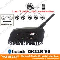 2013 hot sale  DK118-V6 1000M wireless bluetooth motorcycle helmet intercom helmet  interphone