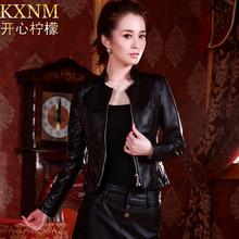 free ship autumn spring fashion women s female outerwear small leather clothing slim short design PU