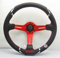 Genuine leather steering wheel momo steering wheel 14 automobile race steering wheel