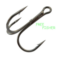 100 pcs super fishing hooks 35656 4# round bent treble with eye high carbon wholesale available sharp