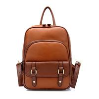 Women's PU student bag fashion personality contrast color cute backpacks school bag casual vintage bag morer #106