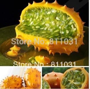 Hot selling 6pcs kiwano melon seeds,Cucumis Metuliferus, african cucumber, vegetable seeds DIY home garden free shipping(China (Mainland))