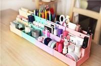 Free shipping  DIY folding cosmetics storage box 4pcs/lot cute Paper Desktop Storage Box