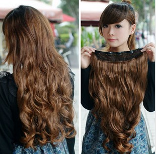 One Piece New Long Synthetic Curly/Wave Clip In Hair Extensions Styling Stylish Queens Fashion Hairpiece For Women