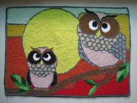 Free shipping high quality handmade Rectangular art rug/floor mat /art carpet for door/ living room 72*50cm