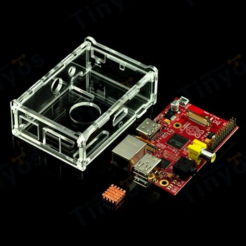 Raspberry Pi - Model B(Red) Kit With Plastic Box And Copper Heatsink - Best quality Compare Anywhere
