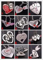 Wholesale 50pairs/lots High quality fashion Key chain pendants couples Keychain Keyfob keyring - free shippping