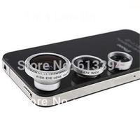2 Pcs VEENTOOK OSINO 3 in 1 Wide + Macro + 180 Degree Fish Eye Fisheye Camera Lens Set for Phone Blackberry Free Shipping