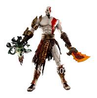 "1pcs 7.5"" NECA God of War Kratos in Golden Fleece Armor with Medusa Head PVC Action Figure Collection Model Toy"