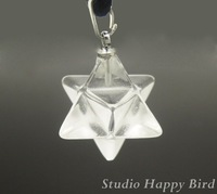 12pcs/Lot Stone EnergyJewelry- Healing Stone Clear Crystal A quality 8 Points Merkabas Pendant