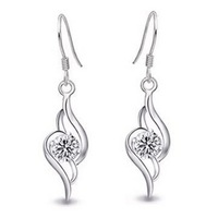 Free Shipping 925 pure silver earrings drop earring Women earrings silver earrings gift