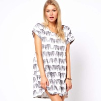 2013 HOT SALE Women's Loose Dress Print Dress Wholesale and Dropship Free shipping