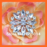 Free Shipping ! 100pcs/lot 37mm Round Crystal Rhinestone Cluster ,Rhinestone Embellishment For Invitation Card,Bouquet Pins