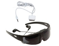 "Free Shipping!Brand IVS Virtual Cinema Digital Video Eyewear Glasses 52"" Detachable&video cable for Apple iphone 4/4S ipod"