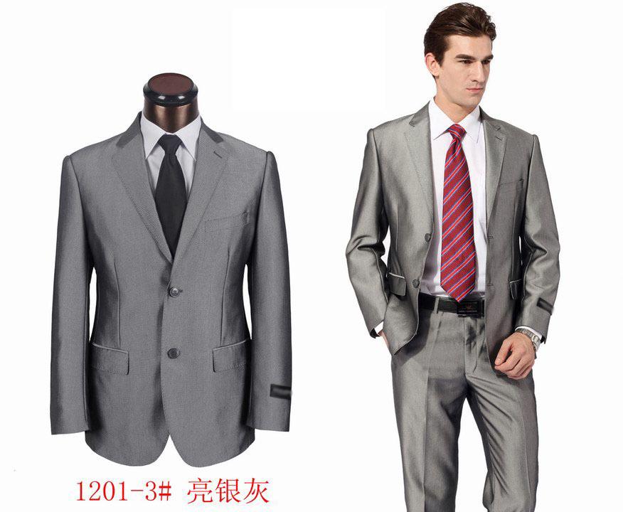 Compra gris brillante traje online al por mayor de China