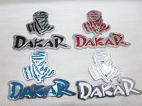 New arrival metail dakar 4 color car sticker 10pcs /lot free shipping