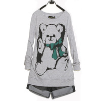 Free Shipping,Fashion big size  spring all-match o-neck long-sleeve casual sweatshirt,fast delivery