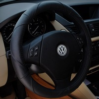38cm Steering Wheel Cover Best Leather Cover Black 4 Season Wheel Cover Sports Cover